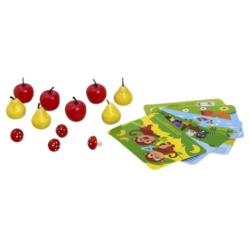 Купить Счетный материал IQ-ZABIAKA «Весёлые задачки: грибы, яблоки, груши» 3868655 красный/желтый, Обучающие материалы и авторские методики