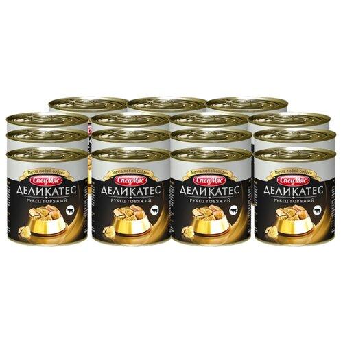 Влажный корм для собак Зоогурман СпецМяс Рубец говядина 15шт. х 250г упаковка консервов 10 шт зоогурман спецмяс говядина с рубцом 10 шт х 300 г