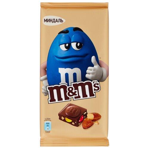 Шоколад M&M's молочный с миндалем и разноцветным драже, 122 г