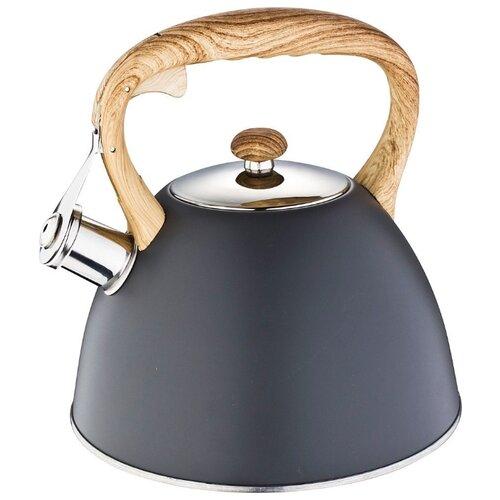 Agness Чайник со свистком, 3 л, черный