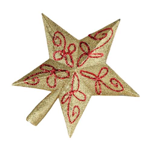 Наконечник на елку Зимнее волшебство Звезда 3562612, золотистый