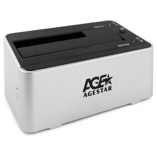 Док-станция для HDD/SSD AGESTAR 3UBT3-6G серебристый