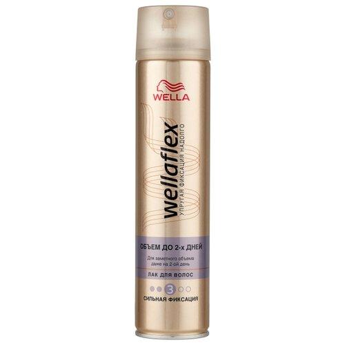 Wella Лак для волос Wellaflex Объем до 2 дней сильной фиксации, сильная фиксация, 250 мл wella лак для волос сильной фиксации stay styled 300 мл