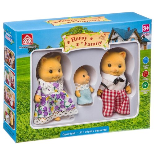 Игровой набор Happy Family Семейка котиков Д93768 лоферы happy family happy family ha016awajnd0