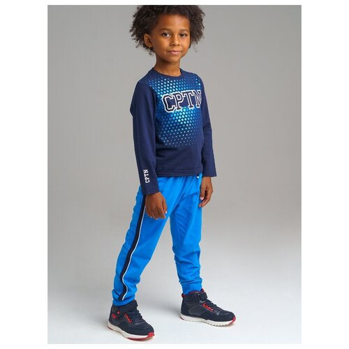 Купить Комплект одежды playToday размер 122, темно-синий/синий, Комплекты и форма