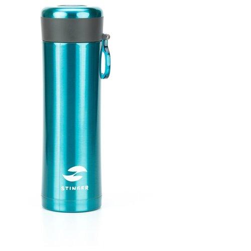 Термокружка STINGER HW-420-32, 0.42 л матовый изумрудный