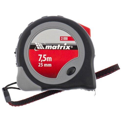 Измерительная рулетка matrix Continuous fixation 31090 25 мм x 7.5 м рулетка status magnet 3 fixations 10 м х 32 мм обрезиненный корпус зацеп с магнитом matrix