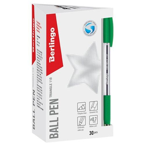 Купить Berlingo Набор шариковых ручек Triangle 110, 0.7 мм 30 штук, зеленый цвет чернил, Ручки