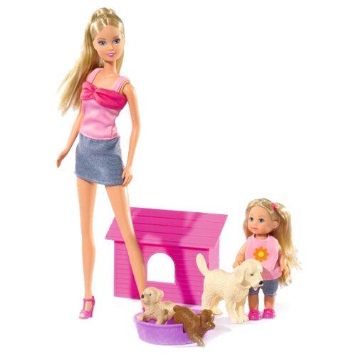 Купить Набор кукол Steffi Love Штеффи и Еви с собачками, 29 и 12 см, 5732156129, Simba, Куклы и пупсы