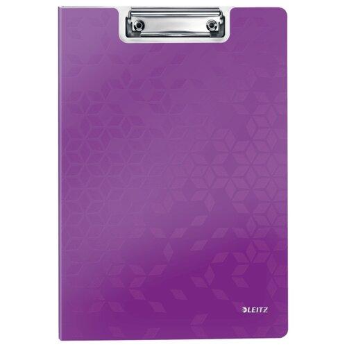 Купить Leitz Папка-планшет с верхним прижимом WOW A4, полифом фиолетовый, Файлы и папки