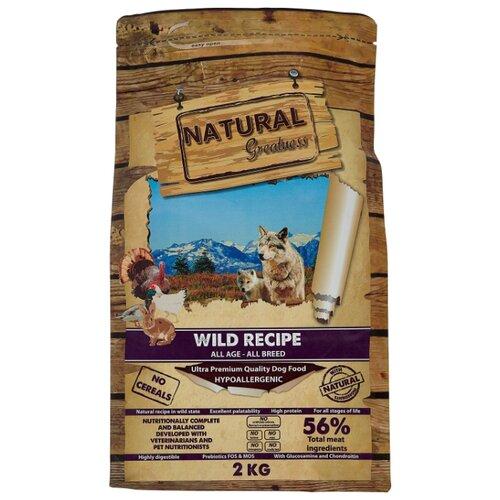 Сухой корм для собак NATURAL Greatness утка, индейка, кролик, курица с картофелем 2 кг greatness