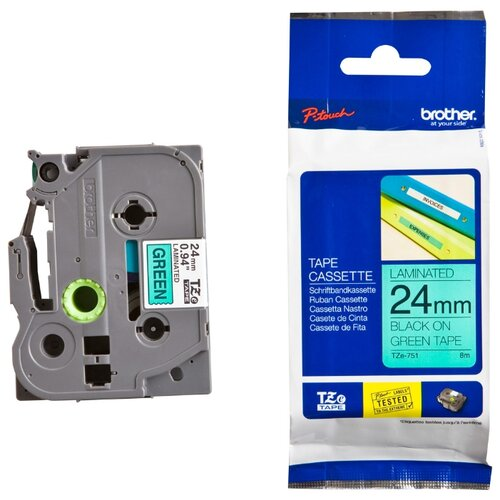 Фото - Картридж для принтера этикеток Brother, арт. TZe-751 (24 мм) картридж для принтера этикеток brother арт tze 253 24 мм
