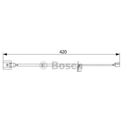 Датчик износа тормозных колодок передний Bosch 1987473012 для Audi Q7, Porsche Cayenne, Volkswagen Touareg