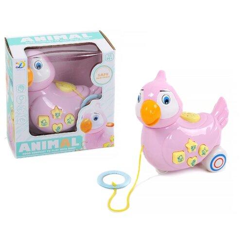 Каталка-игрушка Shenzhen Toys Попугайчик (1351372) розовый бульонница shenzhen xin tianli цвет розовый 600 мл