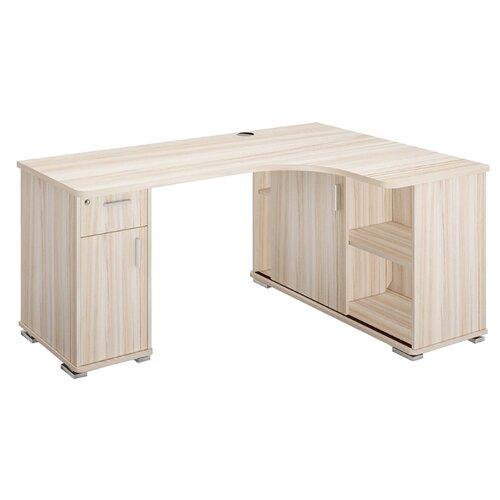 Письменный стол угловой Мэрдэс Домино СР-160М, ШхГ: 160х116 см, угол: справа, цвет: карамель