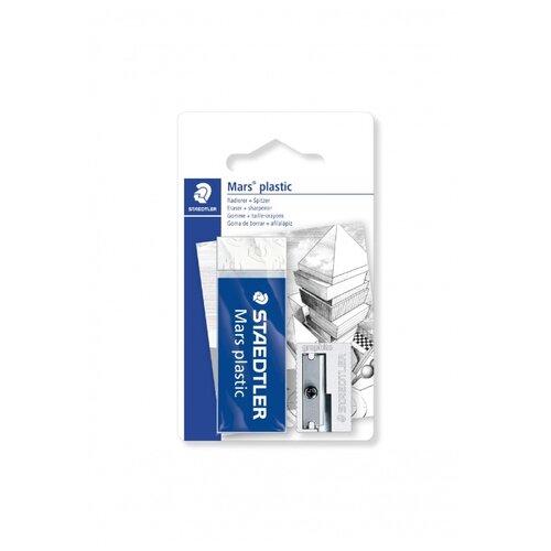 Ластик Mars Plastic + металлическая точилка staedtler ластик rasoplast 526 b20 белый