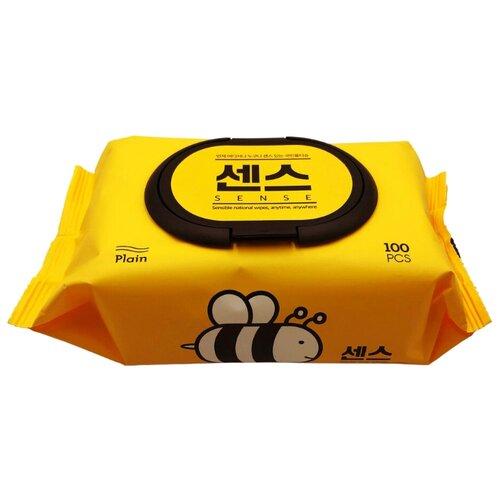 Влажные салфетки Secret Day Sence с экстрактом алоэ вера и мёда, 100 шт.