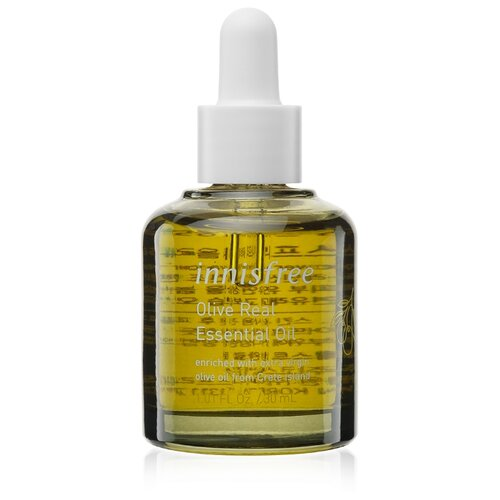 Innisfree Olive Real Essential Oil Косметическое масло оливы для сухой кожи лица, 30 мл