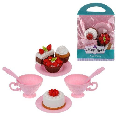 Купить Набор продуктов с посудой Mary Poppins Лакомка 453206 разноцветный, Игрушечная еда и посуда