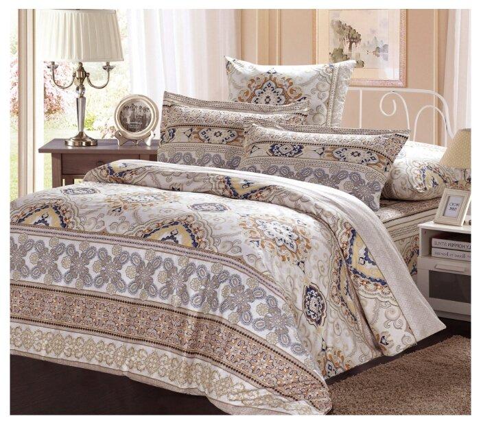 Комплект постельного белья СайлиД A-164-1, 1,5 спальное, Поплин, наволочки 70x70, светло-серый