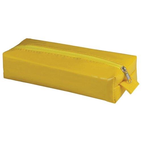 Купить BRAUBERG Пенал-косметичка Блеск желтый, Пеналы