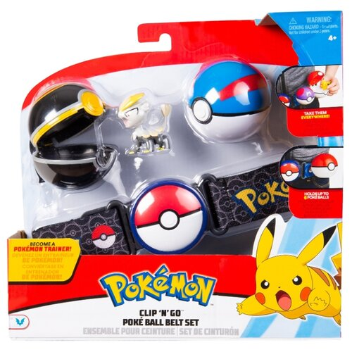 Купить Игровой набор РОСМЭН Pokemon Пояс для Поке-тренов (черный) 36706, Игровые наборы и фигурки