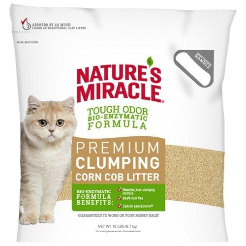 Комкующийся наполнитель Nature's Miracle Premium Clumping Corn Cob Litter, 8.1 кг
