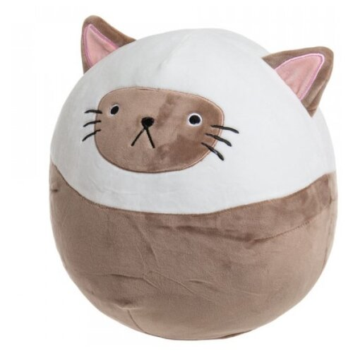 Мягкая игрушка подушка кошка шар 25 см