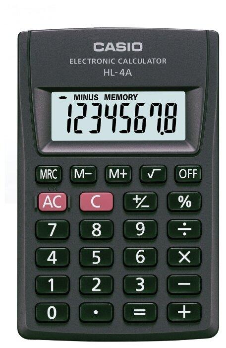 Калькулятор карманный CASIO HL-4A-S
