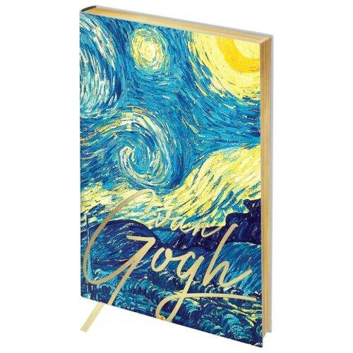 Ежедневник Greenwich Line Vision. Van Gogh. Night недатированный, искусственная кожа, А5, 136 листов, синий записная книжка greenwich line vision art искусственная кожа а5 80 листов синий