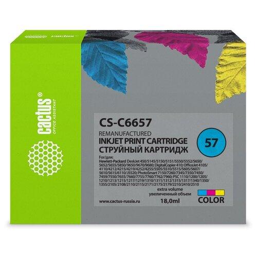 Картридж cactus CS-C6657 57, совместимый картридж cactus cs cb435ar совместимый