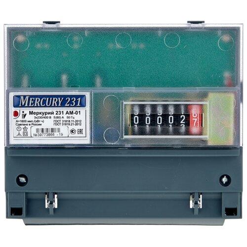 Фото - Счетчик электроэнергии трехфазный однотарифный INCOTEX Меркурий 231 AM-01 5(60) А счетчик электроэнергии однофазный многотарифный incotex меркурий 206 rn 5 60 а