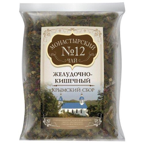 Фото - Чай травяной Крымский чай Монастырский № 12 Желудочно-кишечный, 100 г чай травяной aroma монастырский 100 г