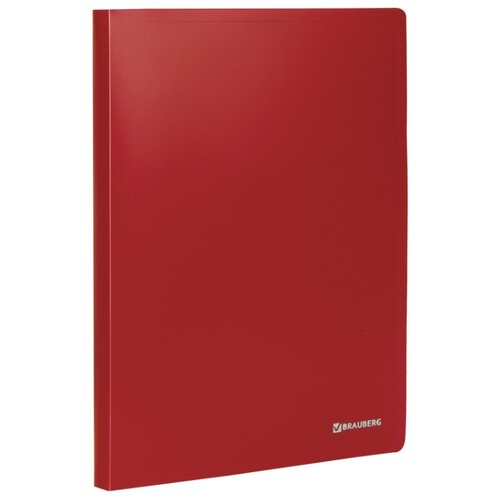 Купить BRAUBERG Папка на 2 кольцах Office А4, 25 мм красная, Файлы и папки