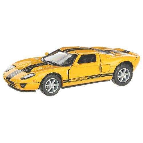 Купить Детская инерционная металлическая машинка с открывающимися дверями, модель Ford GT 2006, желтый, Serinity Toys, Машинки и техника