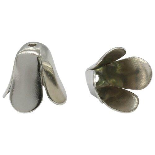 Купить 4AR201 Шапочка для бусин, 12мм 30шт/упак, Астра (Никель), Astra & Craft, Фурнитура для украшений