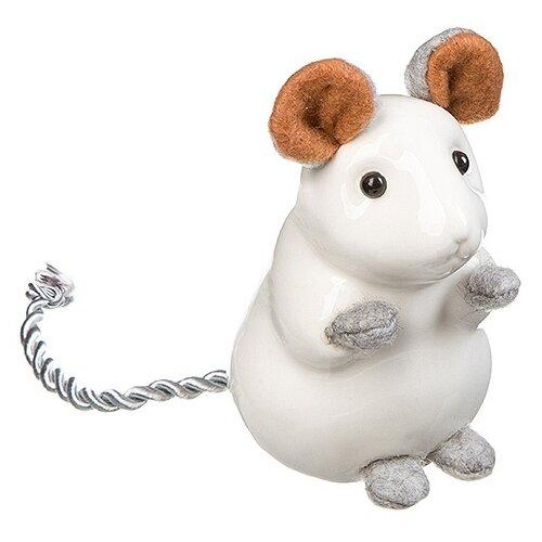 Статуэтка SNOWMEN Мышка, 9.5 см (Е96660) белый