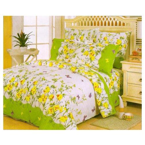 Постельное белье семейное СайлиД A-63(1), поплин зеленый постельное белье сайлид а97 1 двуспальное