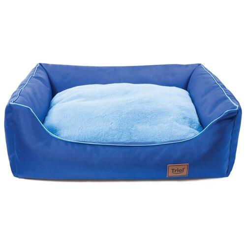 Лежак для собак и кошек Triol Ниагара L прямоугольный 57х50х17 см синий/голубой майка для собак lion manufactory lm21001 01 размер l
