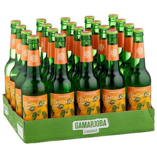 Газированный напиток Gamarjoba Лимон, 0.5 л, 20 шт.