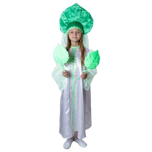 Купить Костюм ВИНИ Березка (VI93008-2), белый/зеленый, размер 122-128, Карнавальные костюмы