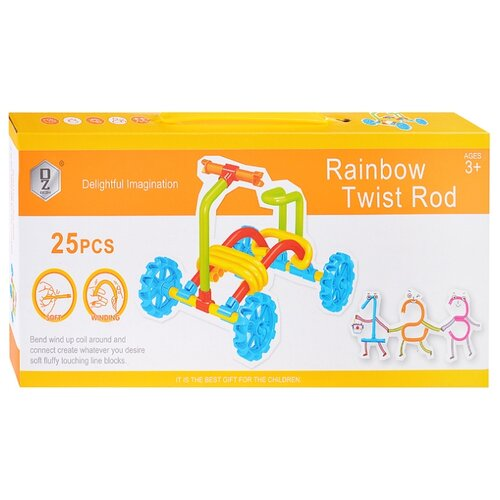 Мягкий конструктор QeZhi Delightful Imagination HD832 Rainbow Twist Road wedgits конструктор imagination set