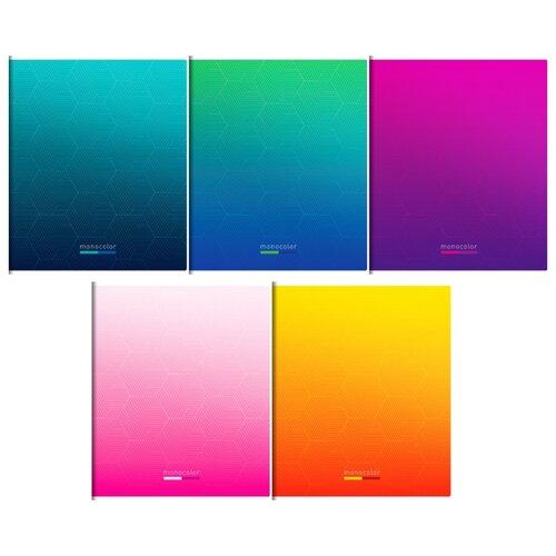 Купить ArtSpace Упаковка тетрадей Моноколор. Simple modern Т96кВЛ_21002, 5 шт./5 дизайнов, клетка, 96 л., Тетради