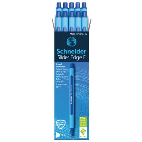 Купить Schneider Набор шариковых ручек Slider Edge F, 0.8 мм, 10 шт., синий цвет чернил, Ручки