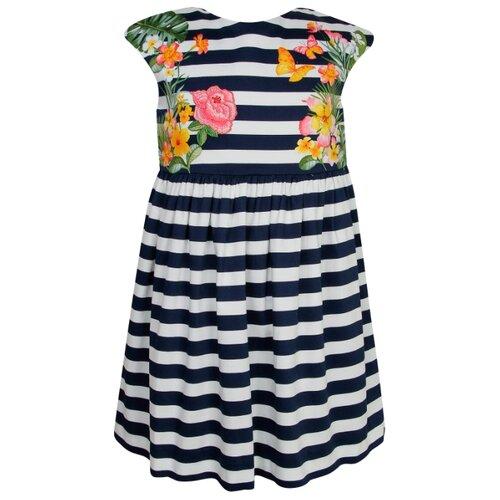 Купить Платье Mayoral размер 134, Полоска/синий/белый, Платья и сарафаны