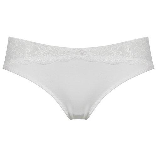 Alla Buone Трусы слипы с кружевными вставками спереди и сзади, размер 3(46), белый