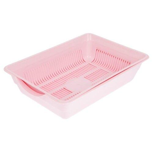 Фото - Туалет-лоток для кошек Сима-ленд 1544599 36х26х9 см розовый туалет лоток для кошек сима ленд 3275758 3275759 3275760 3275761 33 5х25х6 см бежево коричневый