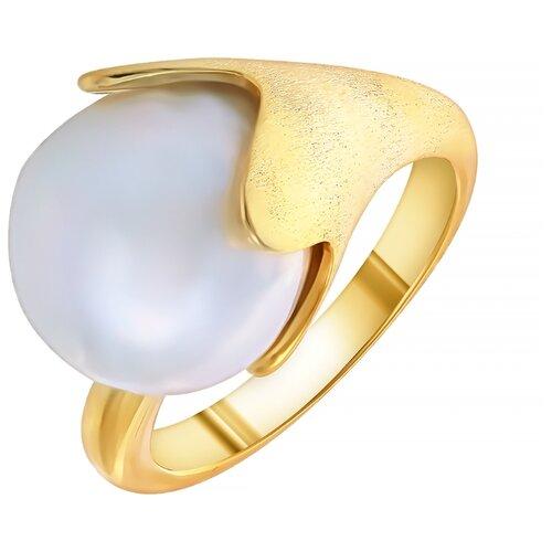 ELEMENT47 Кольцо из серебра 925 пробы с барочным жемчугом CYZPR038_KO_WP_YG, размер 18