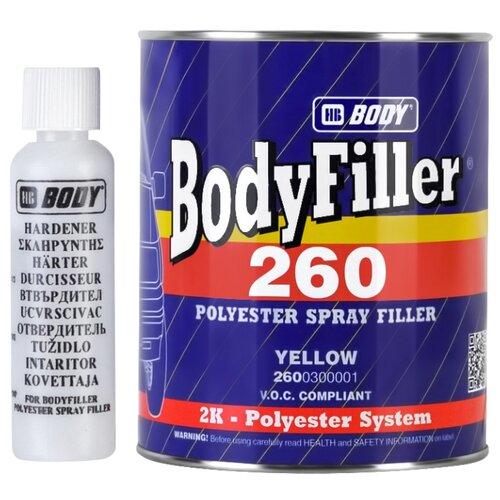 Комплект (шпатлевка, отвердитель) HB BODY BodyFiller 260 1000 мл