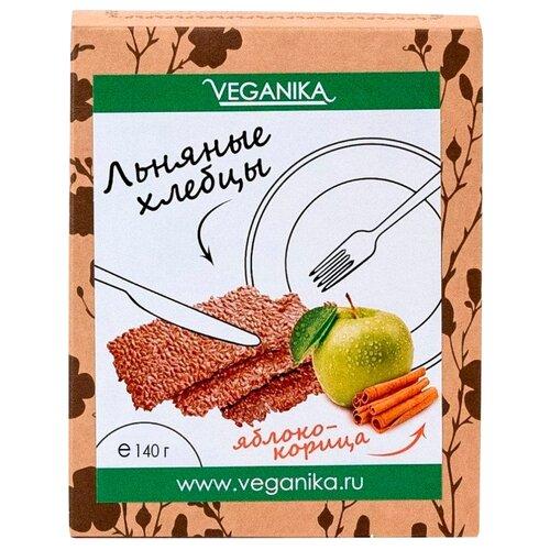 Хлебцы льняные VEGANIKA Яблоко и корица 140 г